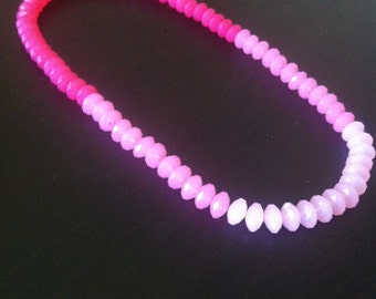 shades of pink beaded necklace