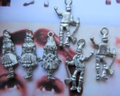 Dorothy And The Tin Man Pewter Charms