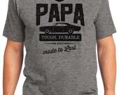 Papa Tough & Durable Classic Chevy Automobile Men's T-shirt Short Sleeve 100% Cotton S-2XL Great Gift (T-DA-46)