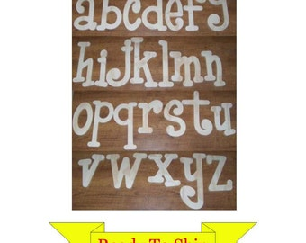 8 inch Whimsical Wooden Letters - LOWERCASE Only - In Stock and Ready To Ship