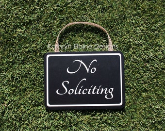 No Soliciting Sign, Rectangle