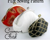 Curvaceous Clutch by Toriska, PDF sewing pattern, round frame clutch pattern, downloadable digital file, digital purse pattern, diy clutch