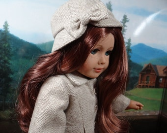 1930-40s Coat and cloche hat for American Girl or similar 18 inch doll