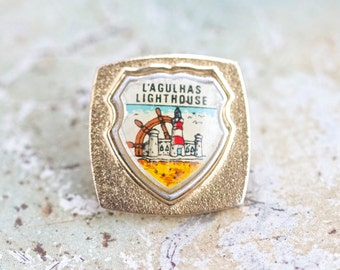 Cape Agulhas Lighthouse Pin - Souvenir from South Africa