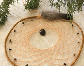 Natural Dream Catcher - tiger eye stones - canyon orange - willow branch - large - 8 inch