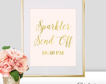 Sparkler Send Off Wedding Sign - Sparkler Send Off Sign - Gold Wedding Decorations - Wedding Sparkler Send Off - Wedding Sparkler Sign (FS2)