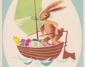 German Easter Postcard -- 1960s