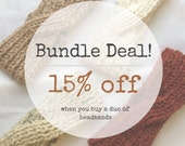 BUNDLE DEAL! Knit Twist Headbands - Mix n' Match Chunky Wool Topknot - Thermal Ear Warmer - Crisscross Winter Headband - 12 Colors Available