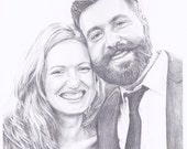 "Custom Portrait 8x10"" - Sketch From Your Photo - Two Portraits or Pets"