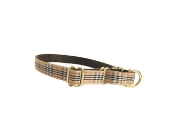 Plaid Martingale Dog Collar