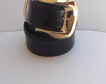 Black and Gold Vintage Belt