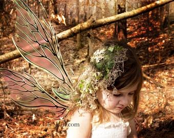 Moss Fascinator Hair Clip- Woodland Fairy-Moss Head Piece- Moss Hair Clip- Green Fascinator- Fairy Costume- LARP- Fairy Cosplay- Elf Costume