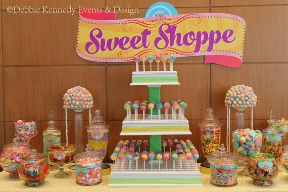candy shop backdrop party printable sign diy print custom rh catchmyparty com Candyland Themed Candy Buffet candyland theme candy buffet