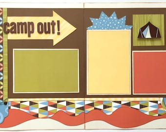 Camp Out Premade 2 Page 12x12 Scrapbook Layout