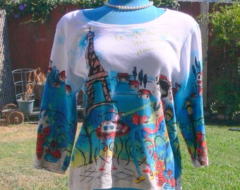 art deco  sweater  size large
