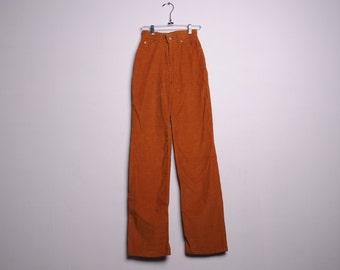 Vintage Levi's California Straights Brown Corduroy High Waisted Pants XS