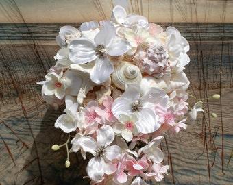 Cascading Seashell Bouquet / Ocean Bouquet / Beach Bouquet / Tropical Bouquet / Destination Bouquet/ Summer Bouquet /  Made to Order