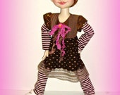 "Duda's ""Little Brown Hen"" - Handmade Doll Clothes for 19 inch Trinket Box Kids BJD by Kimberley Arnold"