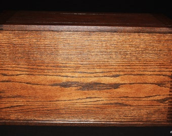 """Stained Oak - Hope Chest - Blanket Chest - Toy Chest - Toy Box - Trunk - Furniture - Large - 26-13/16"""" Long x 13-7/16"""" Wide x 14-13/16"""" High"""