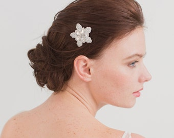 Wedding hair comb, Snowflake wedding hair comb, Wedding hair comb, Bridal hair comb