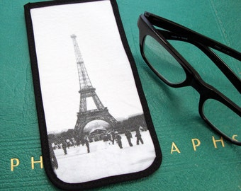 Eyeglass Case with Vintage Photo: The Eiffel Tower, 1944-1945