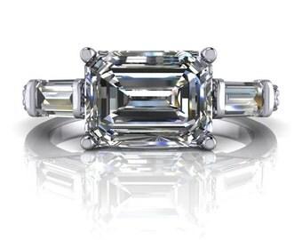 Emerald Cut Diamond Etsy