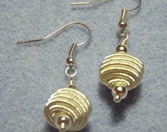 Silver Plate Spiraled Wire Drop Earrings
