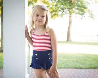 Sailor Bathing Suit - Infants, Toddlers, Girls