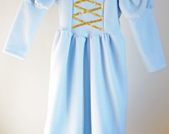 SALE – Ready to ship – Princess costume - Light blue-gold - SIZE 4 only
