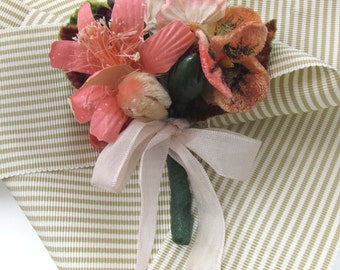 Pink and Rose - Nosegay/Small Bouquet/Tussie Mussie/Corsage