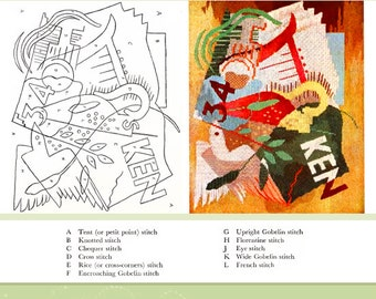Rare Illustrated Tudor JACOBEAN CREWEL EMBROIDERY Designs