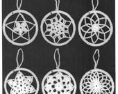 Pdf Pattern. GLIMMERING SNOWFLAKES Thread Crochet Snowflake Ornaments 6 Designs. Easy To Make. JAO Enterprises Pattern. Christmas Decor