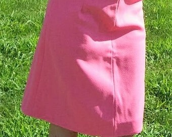Vintage 1960s Ladies Pink Skirt Small Mod Retro Only 7 USD