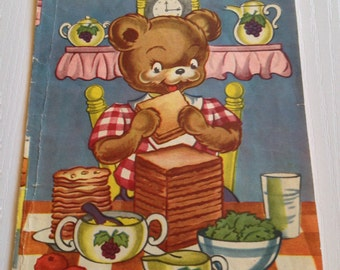 1940's The Hungry Little Bear Book