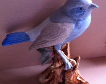 Bird Figurine, Blue & Gray Bird