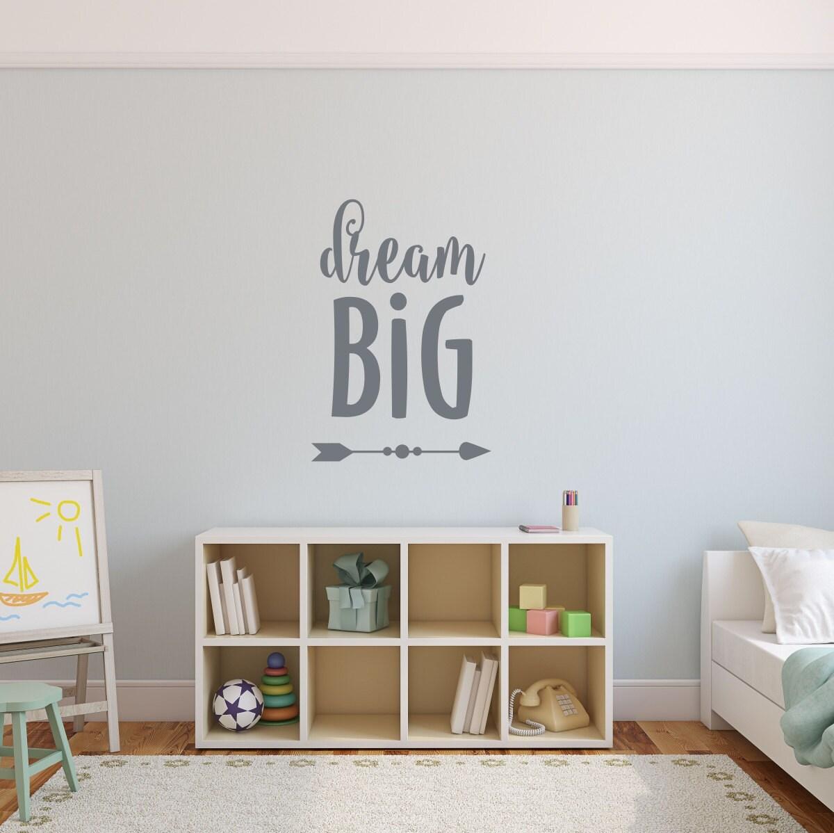 Dream big wall decal nursery decor for boys playroom wall art amipublicfo Images