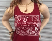 Tank Top-Wonders of Nature- Scarlet color edition -Grateful Dead inspired-Women's Sugar Magnolia racerback tank top- ladies Next Level brand