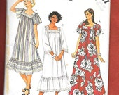 Vintage 1980's McCall's 2537 Misses Loose Fitting Dress, Muumuu, Luau Smock, With 1 or 2 Tiered Ruffles, And Square Neckline, Size Lg(18-20)