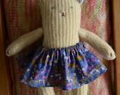 wool kitty doll, repurposed sweater wool