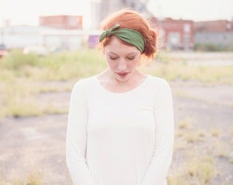 Olive Green Headwrap