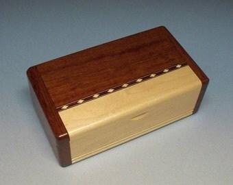 Bubinga & Maple Inlay Box, Gift Idea, Best Man Gift, Small Wooden Box, Watch Box, Corporate Gift, Small Wooden Box