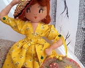 Lucille Ball, Handmade, Art Doll, OOAK, Unique..