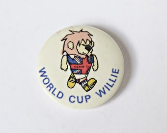 Vintage 1966 World Cup Willie Badge Genuine Badge - 1966 Football World Cup