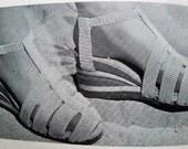 Vintage 40s Needlewoman & Needlecraft Magazine No 39 Summer Sandals Crochet Pattern Sweater Vest Panties Undies Knitting Pattern Embroidery