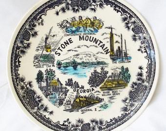 Vintage Stone Mountain Georgia Souvenir Plate JAPAN