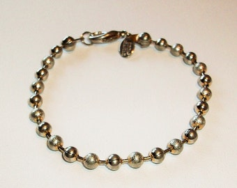 Stainless Ball Chain   Bracelet Classic Simple
