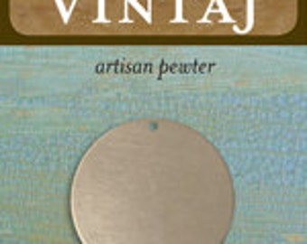 Vintaj Pewter 29mm Circle (1 pc)