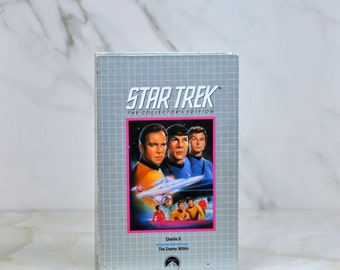 Vintage VHS Tape Star Trek The Collector's Series TV Episodes Charlie X And The Enemy Within 1966 Paramount Pictures - Kirk - Spock - McCoy