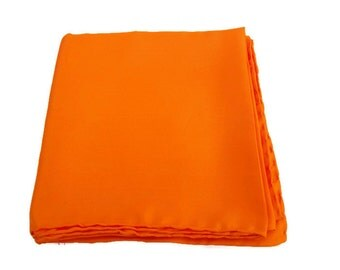 Vintage Orange Silk Scarf Vera Scarves All Silk Made in Italy Handrolled Edges Fall Accessory Headwrap