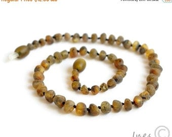 15% OFF THRU OCT Raw Unpolished Baltic Amber Baby Teething Necklace